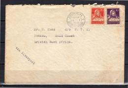 H. Vaterlaus Drosselstrasse 1931 To British West Africa Via Liverpool (z263) - Suiza