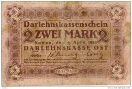 Del-01 030  2 Mark 1918 - Lituanie