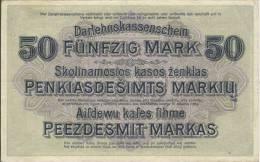 Del-01 034  50  Mark 1918 - Lituanie