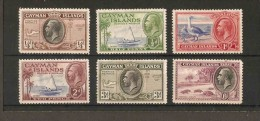 CAYMAN ISLANDS 1935 VALUES TO 6d SG 96 - 98, 100, 102, 103  LIGHTLY MOUNTED MINT Cat £20+ - Cayman Islands