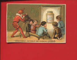 Liebig Chromo Or Testu Massin Enfant Jeu Clown Lanterne Magique Magie Magicien - Liebig