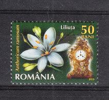 Romania  -   2013.  Orologio Artistico E Giglio. Artistic Clock And Lily. - Orologeria