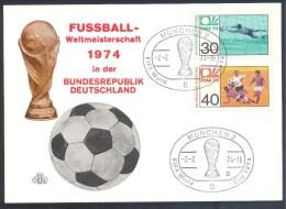 Germany Deutschland 1974 Card: Football Fussball Soccer Calcio FIFA World Cup: Pokal Fussball Weltmeisterschaft München - Coppa Del Mondo