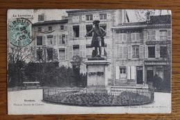 CPA - VERDUN (55) - Place Et Statue Chevert - Verdun