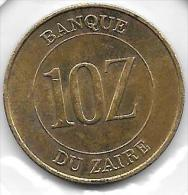 10 Zaires 1988 - Congo (Republiek 1960)