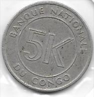 5 Makuta 1967 Congo - Congo (Rép. Démocratique, 1964-70)
