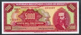 Brésil P 182b  5000 Cruzeiros 1964  UNC Série 1256 N° 072237 - Brasilien