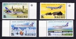 Nauru 1980 10th Anniversary Air Nauru 4v ** Mnh (25982 - Nauru