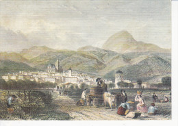 CLERMONT-FERRAND (63-Puy-de-Dôme), D'après Une Lithographie Ancienne, Les Vendanges, Boeufs, Chariot, Ed.du Lys 1980 Env - Clermont Ferrand