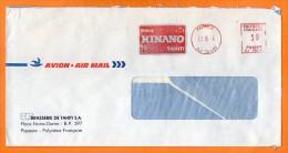 PAPETTE  BIER HINANO TAHITI  Lettre Entière N° EMA 1956 - Birre