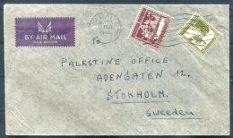 1945 Tel Aviv Airmail Cover - Palestine Office, Stockholm, Sweden - Palestine