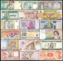 Belle Collection De 100 Billets De Banque Du Monde Tous Différents. - Billets
