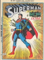 Superman-Batman Extra-N°hors-série 50bis-Sagédition 1973-TBE - Superman