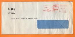 NANTERRE   ARONDE SIMCA 1957  Lettre Entière N° EMA 1965 - Voitures