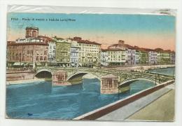 PISA PONTE DI MEZZO E VEDUTA LUNG'ARNO 1929  VIAGGIATA F.P. - Pisa