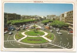 G3465 Messina - Piazza Cairoli - Auto Cars Voitures Bus Autobus / Viaggiata 1991 - Messina