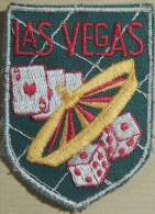 Patch Écusson Tissu Touristique : USA - Etats Unis - Las Vegas - Nevada - Roulette Dés Cartes - Ecussons Tissu
