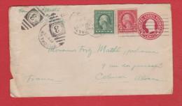 Etats Unis // Entier Postal //   De Brooklin  //  Pour Colmar