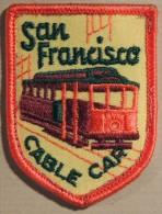 Patch Écusson Tissu Touristique : USA - Etats Unis - San Francisco - Californie - Cable Car - Tramway - Ecussons Tissu
