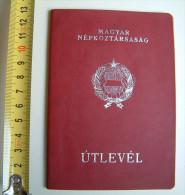 +++ Hungary - Passport Passeport 1973 Red Hf - Documenti Storici