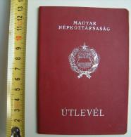 +++ Hungary - Passport Passeport 1973 Red Hfne - Documenti Storici