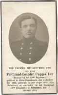 71. F.L.CAPPELLEN - Soldaat 23ste Regiment - HALLE-BOYENHOVEN 1886 / ANTWERPEN 1914 - GEVALLEN Voor VADERLAND - Imágenes Religiosas