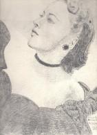 Dessin Au Crayon      -  Illustrateur Signé - Belle Femme Du Spectacle - Dessins