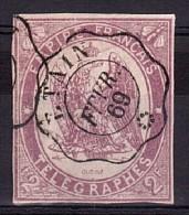 1869 - Télégraphe N° 4 - Oblitéré Etain - TB - Cote 225 - Télégraphes Et Téléphones