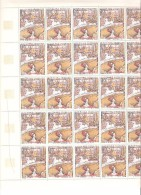FRANCE  FEUILLE  COMPLETE DE 25 TIMBRES N°1588A NEUF ** MNH  DE1969 - Volledige Vellen