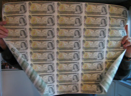 FEUILLE COMPLÈTE DE BILLET DE 1$ UN DOLLAR  (40 BILLETS) CANADIEN NEUF 1973 - - Canada