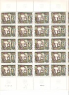 FRANCE  FEUILLE  COMPLETE DE 25 TIMBRES N°1588 NEUF ** MNH  DE1969 - Volledige Vellen
