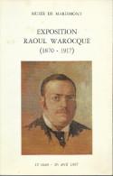 """Franc-Maçonnerie : """"Exposition Raoul Warosqué 1870/1917"""" 1967,125 Pages - Esotérisme"""