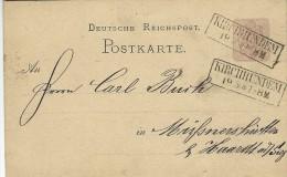 Stationery - Postkarte. Postmark  Kirchhundem.  S-435 - Entiers Postaux