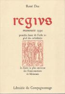 """Franc-Maçonnerie : """"Regius"""" Par R Dez (la Plus Ancienne Charte Des Francs-mestiers De Bâtisseurs) 1985, 147 Pages"""