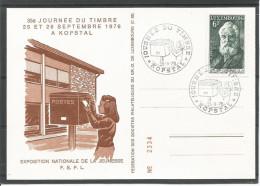 CARTE COMMEMORATIVE 35e JOURNEE DU TIMBRE A KOPSTAL TP N° 935 (CACHET POSTAL DE KOPSTAL)(SCAN VERSO) - Cartes Commémoratives