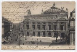 FRANCE ~ Opera House & Auber Street PARIS L'Opera Et La Rue Auber 1910 Postcard - France