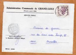 Enveloppe Brief Cover Administration Communale De Grand-Leez - Belgique