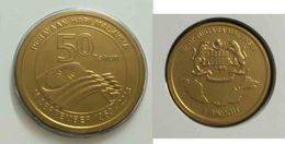 Malaysia 2013 1 Ringgit Nordic Gold Coin BU  50th Formation - Malaysia