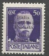 BASE NAVALE ITALIENNE A BORDEAUX N� 6 NEUF* CHARNIERE Sign� CALVES /  MH / 2 SCANS