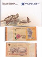 Set 2012 Malaysia UNC $20 Ringgit Commemorative Banknote With Folder - Malaysia