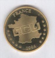 1 ECU France 1994 - 40 Mm Métal Doré - Non Classificati