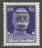 BASE NAVALE ITALIENNE A BORDEAUX N� 12 NEUF** LUXE SANS CHARNIERE Sign� CALVES /  MNH / 2 SCANS