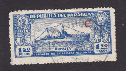 "Paraaguay, Scott #L33, Used, Gunboat ""Humaita"" Overprinted, Issued 1931 - Paraguay"