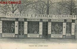 FOIRE DE LYON COURONNES MORTUAIRES POMPES FUNEBRES E. PIRONNEAU RUE DES PRAIRIES PARIS XXeme 75020 EXPOSITION - Lyon