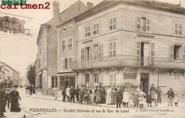FOUGEROLLES SOCIETE GENERALE ET RUE DU BAS DE LAVAL TRES ANIMEE 70 - Frankrijk