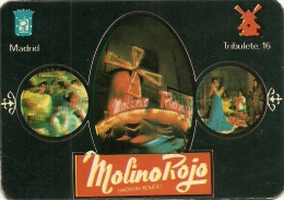 Spanish 1977 Calendar - Molino Rojo (Moulin Rouge) Madrid - Calendriers
