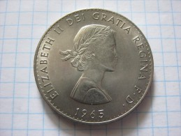 United Kingdom 1 Crown 1965 , Death Of Winston Churchill - 1902-1971 : Post-Victorian Coins
