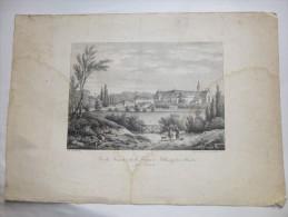 Lithographie Du Monastère De La Frappe à Melleray Près De Nantes. Format 43,5x30. - Old Paper