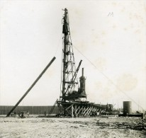 France Port De Dunkerque Travaux D'Extension Digue Sud & Ouest Ancienne Photo 1931 - Places