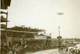Sicile Palerme Course Targa Florio Les Tribunes Avion En Vol Ancienne Photo Rol 1925 - Cars